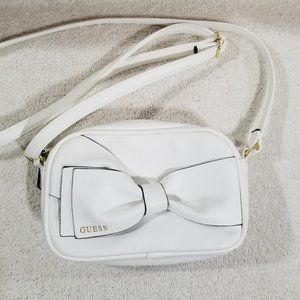 Guess white with bow crossbody bag